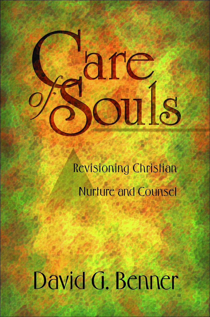 care of souls David benner's book, care of souls: revisioning christian nurture and counsel, presents a comprehensive discussion of soul care, including its historical origins and.