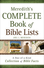 Meredith's Complete Book of Bible Lists