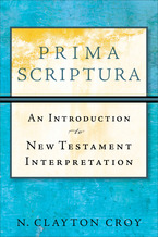 Prima Scriptura