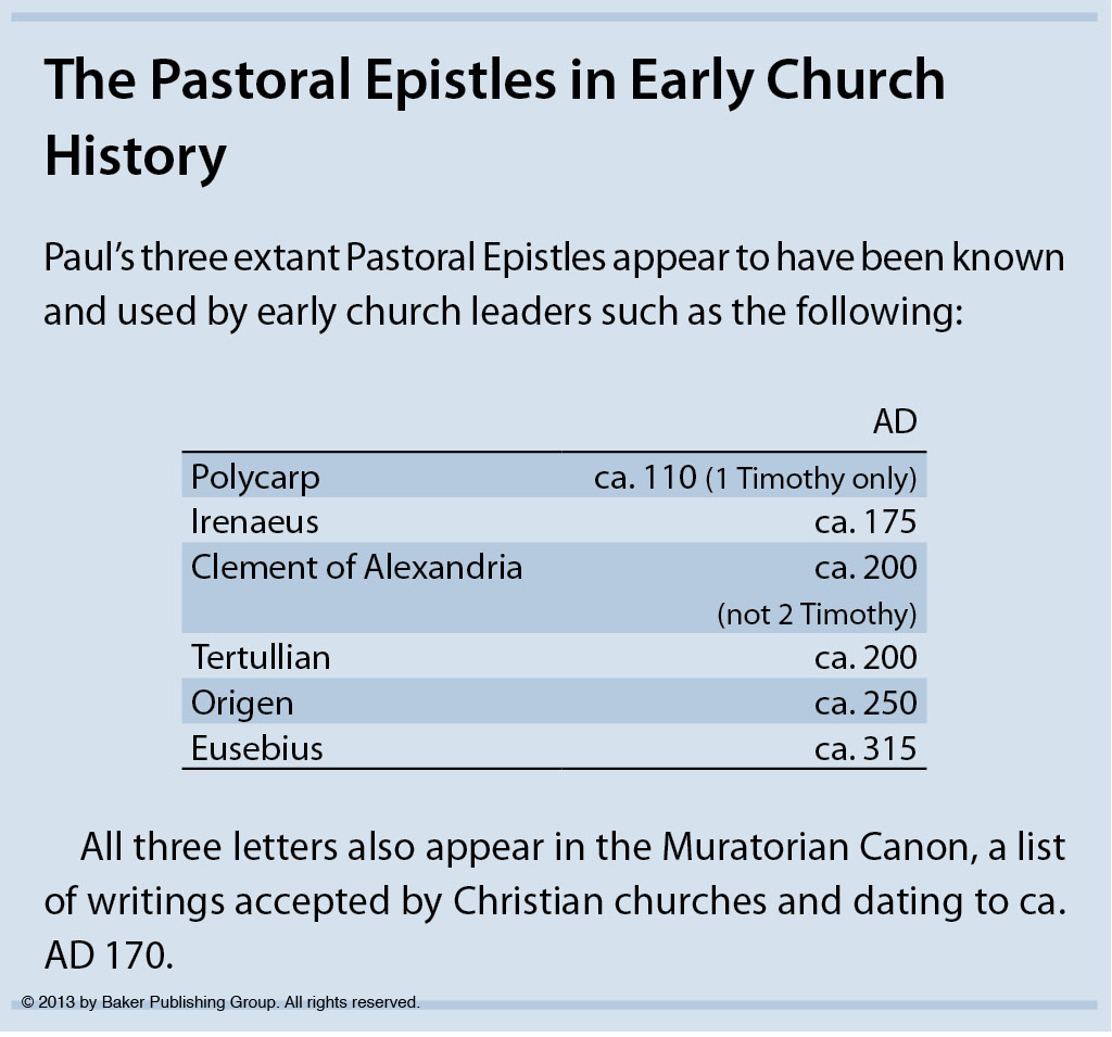 "the pastoral epistles Stanley e porter, ""pauline authorship and the pastoral epistles: implications for canon,"" bulletin for biblical research 5 (1995): 105-123."
